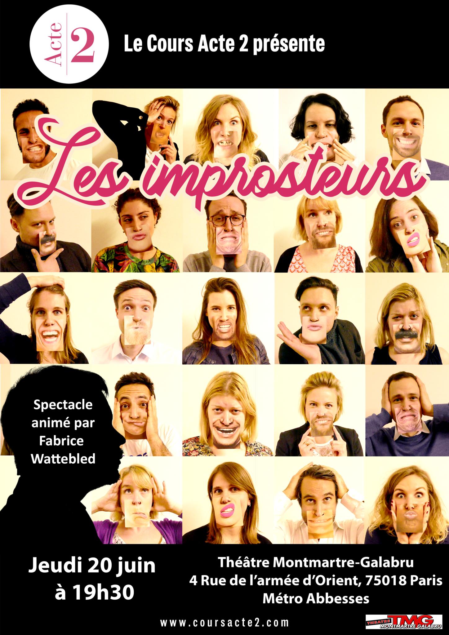 Affiche les improsteurs Impro 20 juin