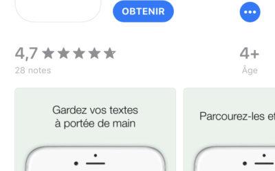 Une appli pour apprendre votre texte ?