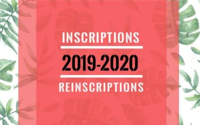 Inscriptions 2019-20 !